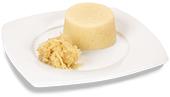 Passierte Sauerkraut-Timbale, auf einem Teller angerichtet