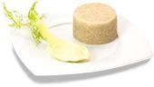 Passierte Fenchel-Timbale, auf einem Teller angerichtet
