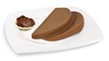 Nuss-Nougat-Creme-Brot, passiert