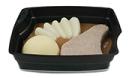 Passiertes Menü Nr. 13 in der Schale: Schweinekotelett, Kohlrabi, Kartoffeln