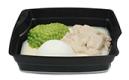 Passiertes Menü Nr. 17 in der Schale: Geflügelragout, Erbse, Basmati-Reis