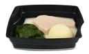 Passiertes Menü Nr. 18 in der Schale: Lachs, Spinat, Kartoffeln