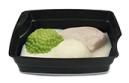 Passiertes Menü Nr. 24 in der Schale: Hähnchenbrust, Erbsen, Nudeln