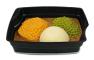 Passiertes Menü Nr. 37 in der Schale: Karotten-Couscous, Erbsen, Karotten