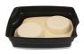 Passiertes Menü Nr. 93 in der Schale: Süße Mahlzeit Pfannkuchen mit Apfelsahnesauce
